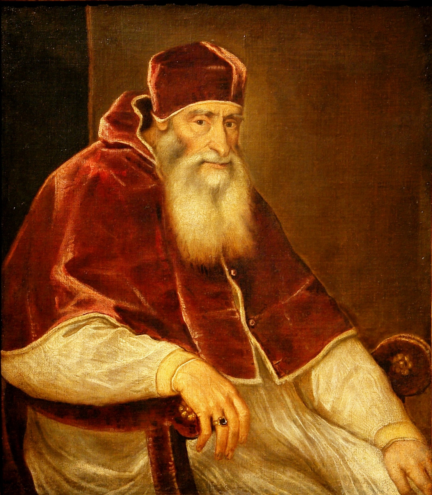 Portrait Pope Paul III Farnese by Titian (1543)